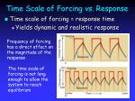 time scale of forcing vs response17