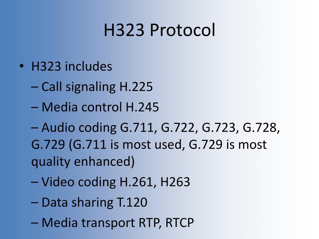 H323 Protocol