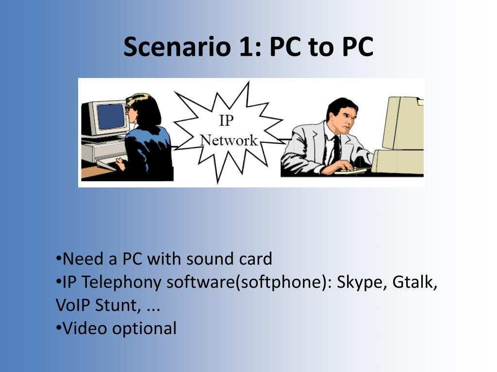 Scenario 1: PC to PC