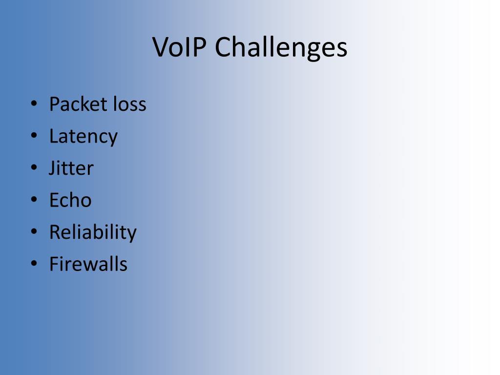 VoIP Challenges