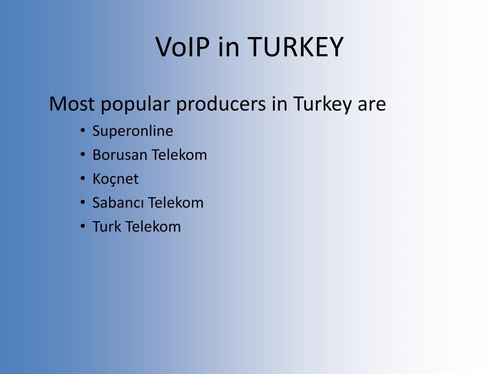 VoIP in TURKEY