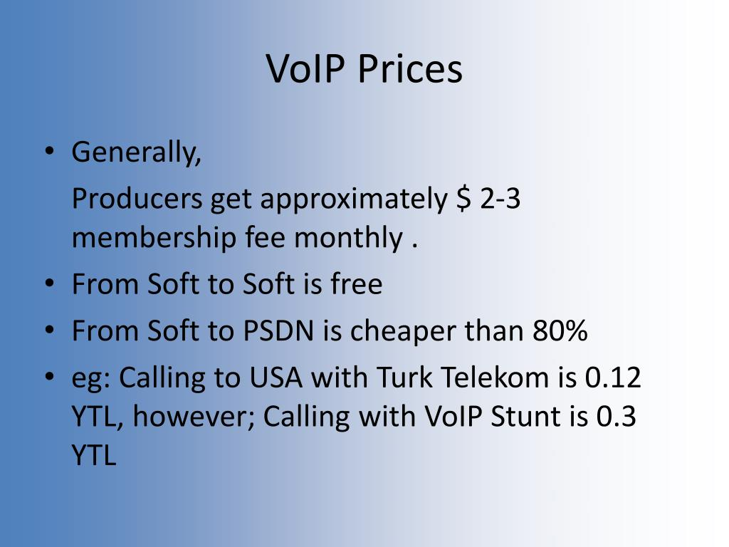 VoIP Prices