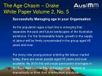 the age chasm drake white paper volume 2 no 5