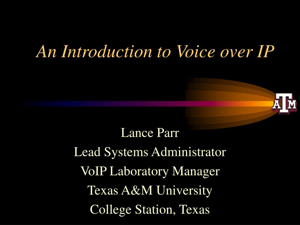 An Introduction to Voice over IP