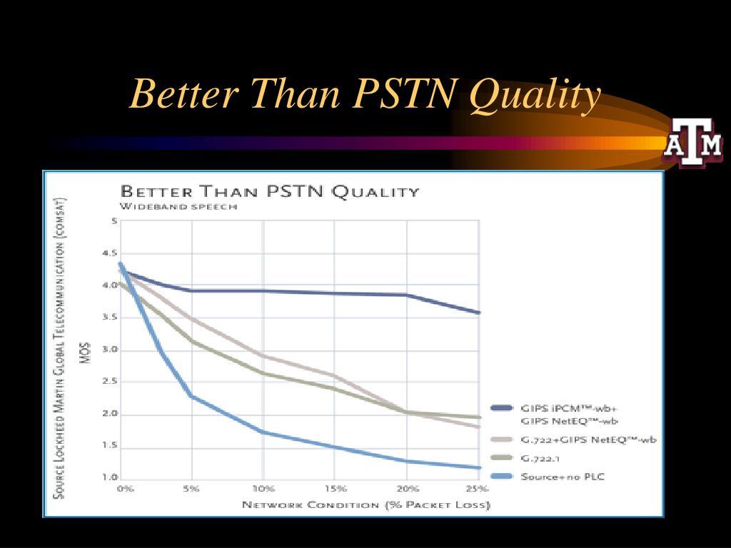 Better Than PSTN Quality