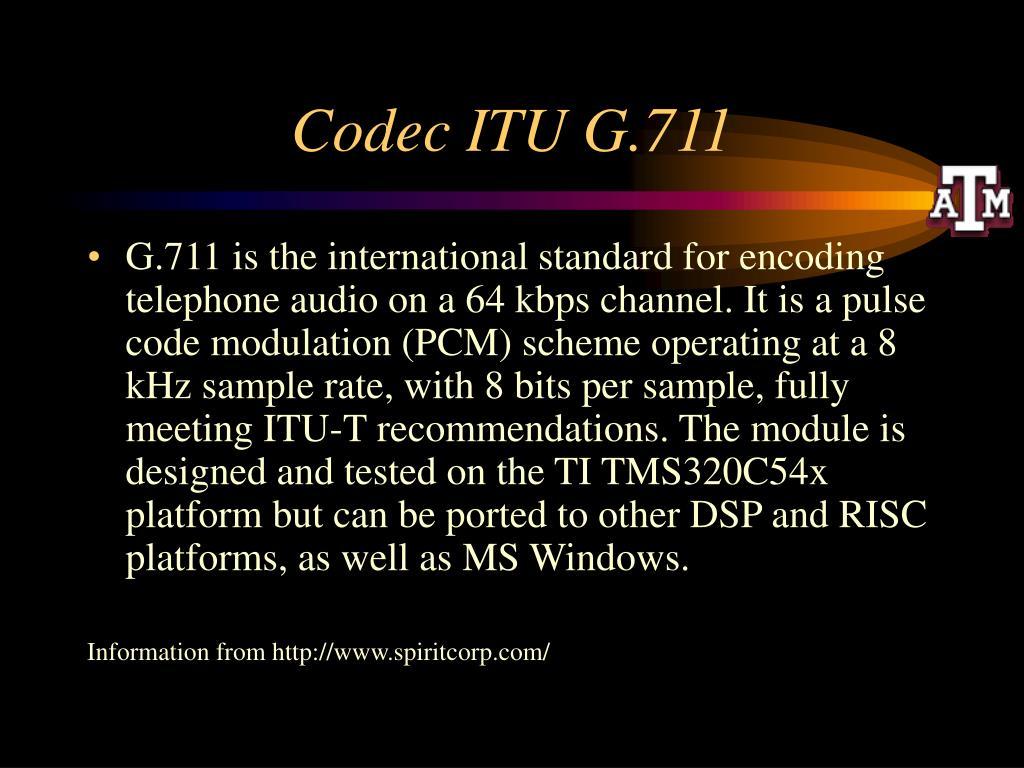 Codec ITU G.711