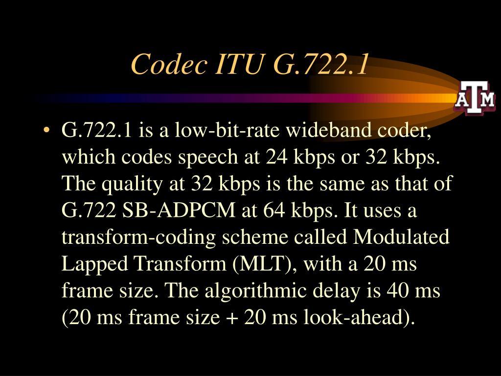 Codec ITU G.722.1