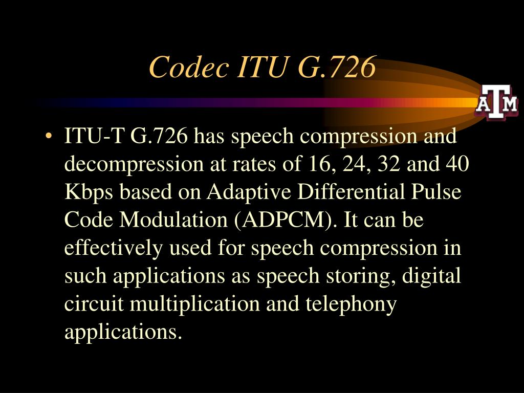 Codec ITU G.726