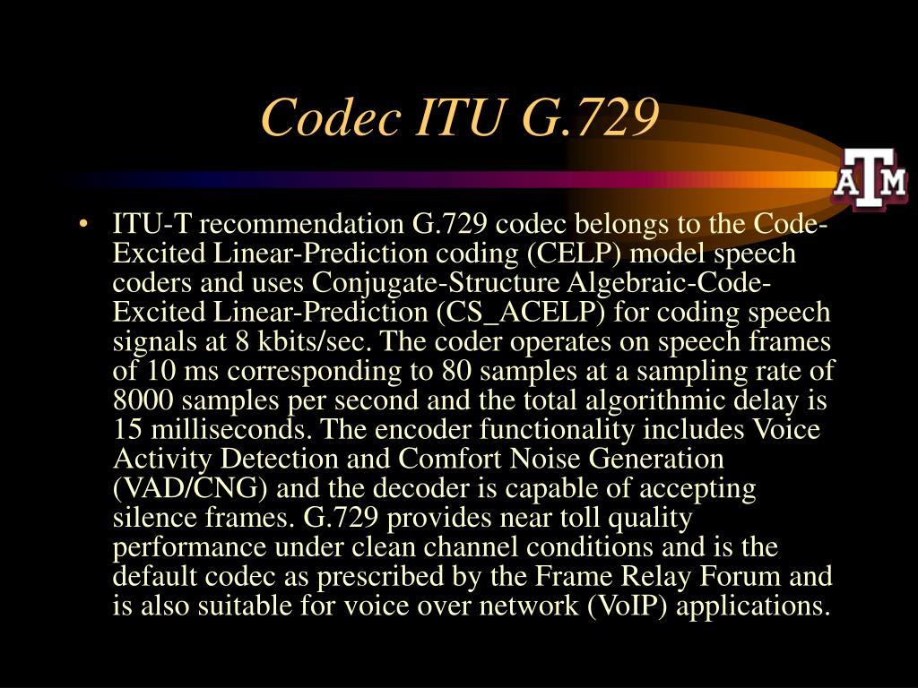 Codec ITU G.729