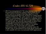 codec itu g 729