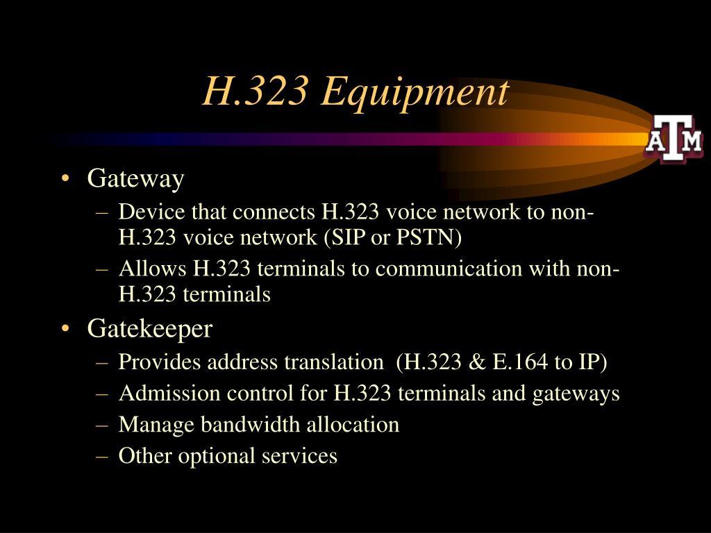 H.323 Equipment