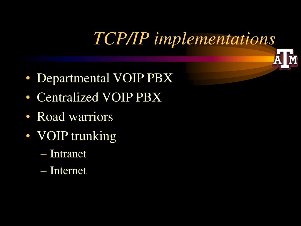 TCP/IP implementations
