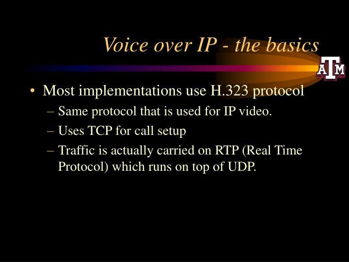 Voice over ip the basics