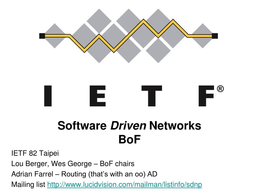 software driven networks bof l.