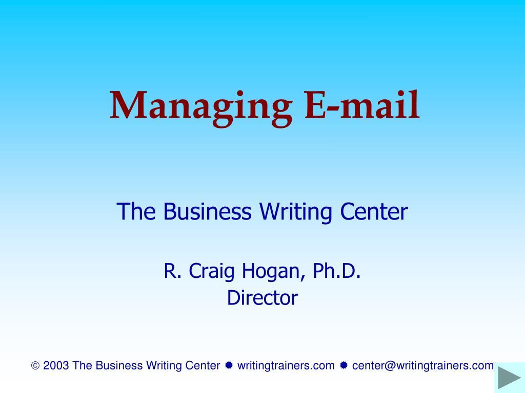 managing e mail l.