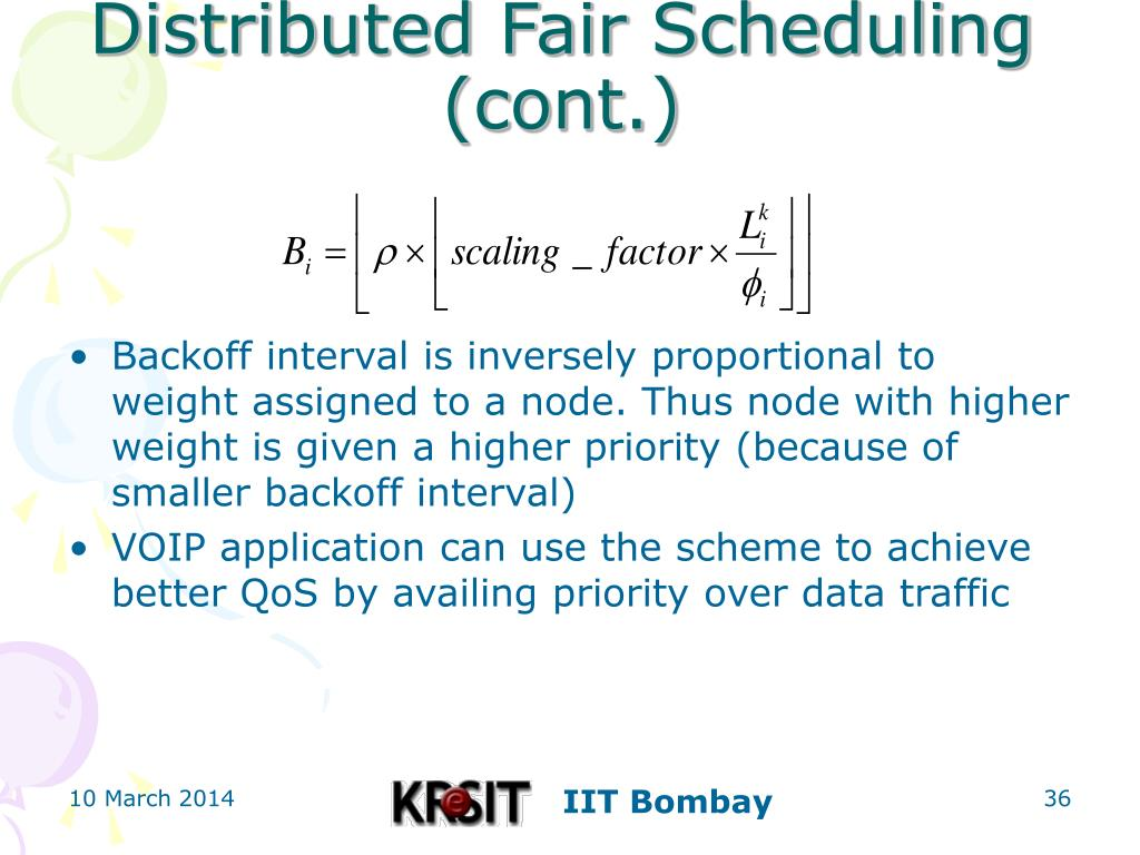 Distributed Fair Scheduling (cont.)
