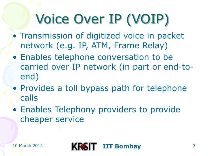 Voice over ip voip