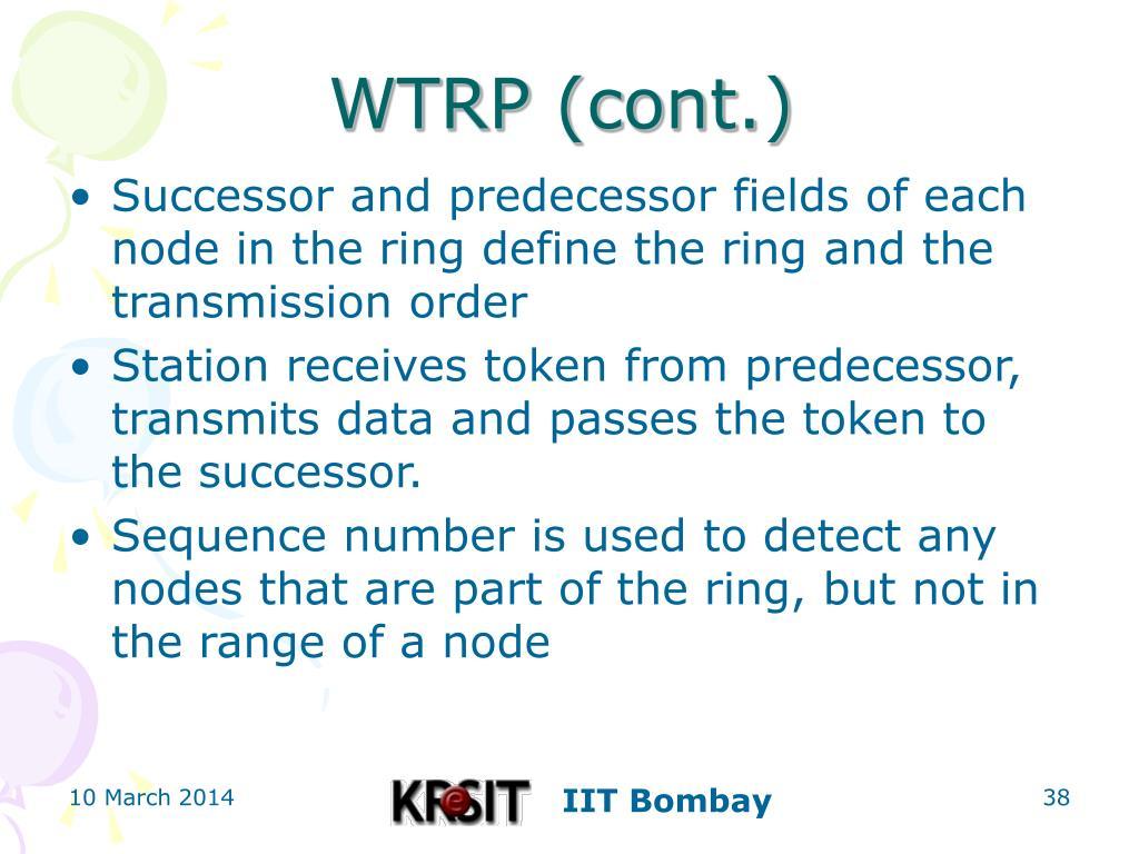 WTRP (cont.)