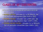 clases de set existentes