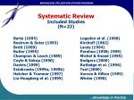 systematic review included studies n 22