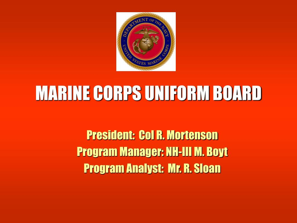 marine corps uniform board l.