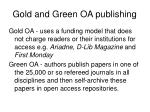 gold and green oa publishing