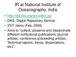 ir at national institute of oceanography india