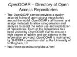 open doar directory of open access repositories