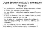 open society institute s information program