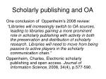scholarly publishing and oa