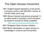 the open access movement