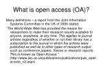 what is open access oa
