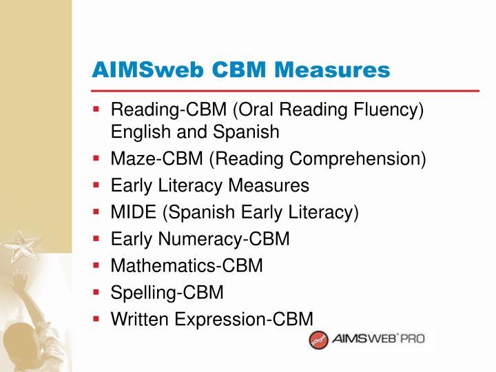 AIMSweb CBM Measures