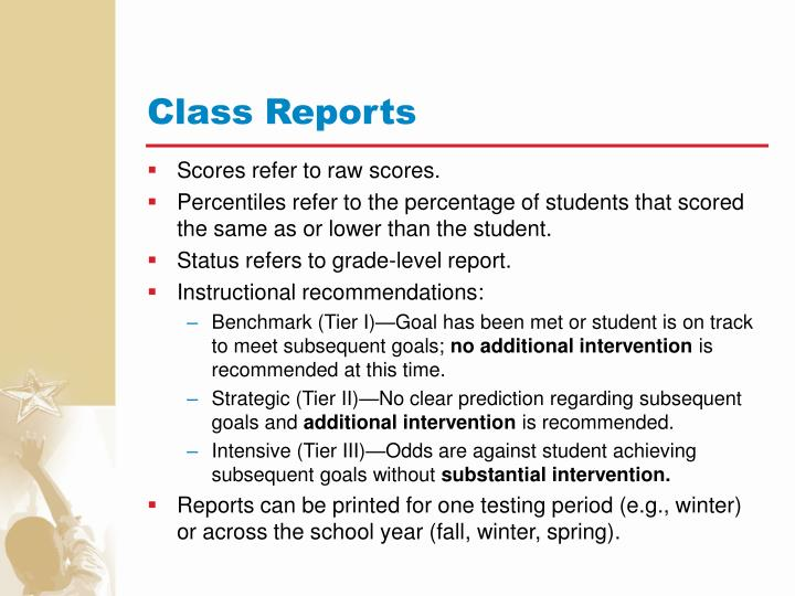 Class Reports