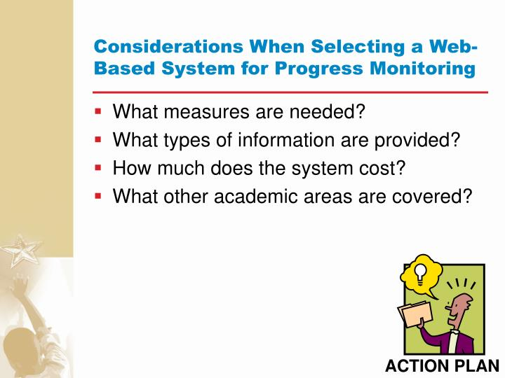Considerations When Selecting a Web-Based System for Progress Monitoring