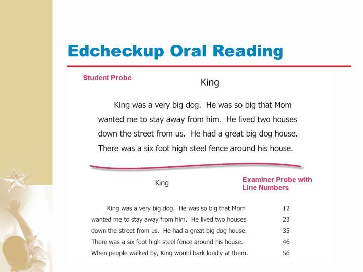 Edcheckup Oral Reading