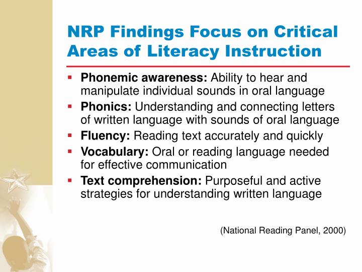 NRP Findings Focus on Critical Areas of Literacy Instruction