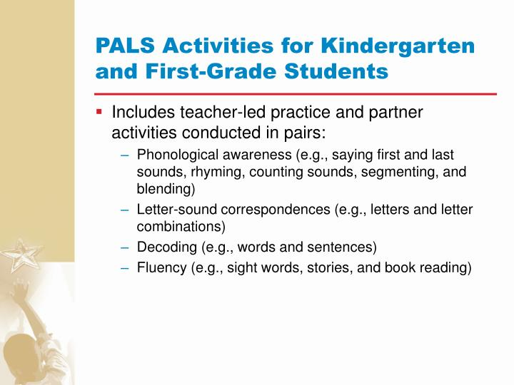 PALS Activities for Kindergarten and First-Grade Students