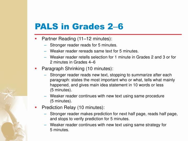 PALS in Grades 2