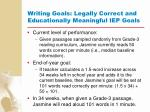 writing goals legally correct and educationally meaningful iep goals