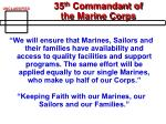 35 th commandant of the marine corps