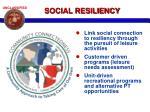 social resiliency