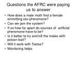 questions the afrc were paying us to answer