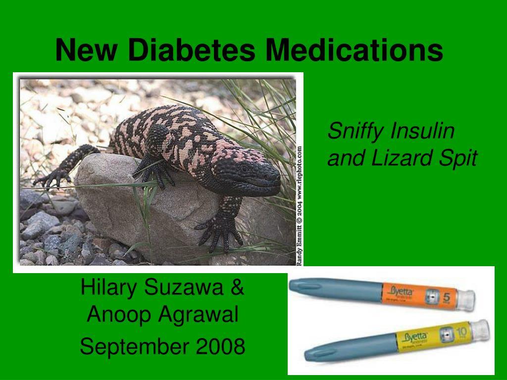 new diabetes medications l.