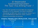 et flerperiodisk kontantstr msproblem the taco viva sinking fund i