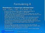 formulering a