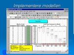implementere modellen91