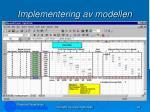 implementering av modellen96