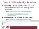 technical files design dossiers