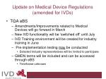 update on medical device regulations amended for ivds11